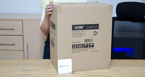 HSM shredstar X10 Aktenvernichter im Test - Produktabmessungen: 24.5 x 34.5 x 44.5 cm