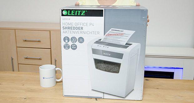 Leitz IQ Home Office Aktenvernichter im Test - Maße (LxBxH): 35,6 x 42,3 x 23,8 cm