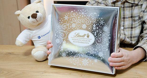 Lindt Weihnachtliche Kostbarkeiten Schokoladengeschenk im Test - in silberner Geschenkbox