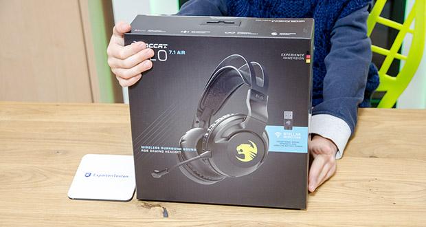 Roccat Elo 7.1 Air Gaming Headset im Test - 360°-Surround-Sound wird von präzise abgestimmten 50-mm-Treibern erzeugt und verfügt über die Superhuman Hearing®-Technologie, um entscheidenden Sound im Spiel zu optimieren