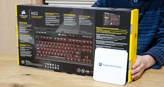 Corsair K63 Mechanische Gaming Tastatur im Test - Deutsche Cherry MX red Schalter