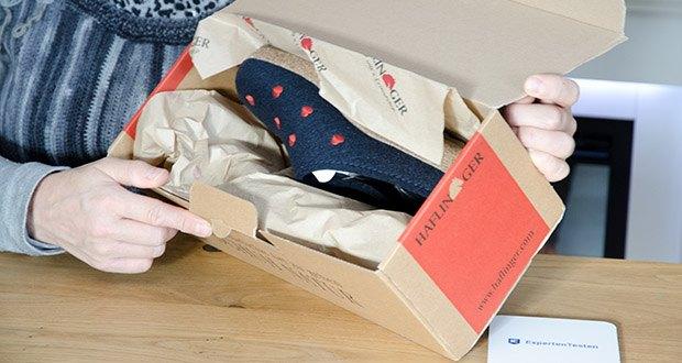 HAFLINGER Damen Couriccini Grizzly Pantoffeln im Test - Farbe: Blau Mittelblau 70