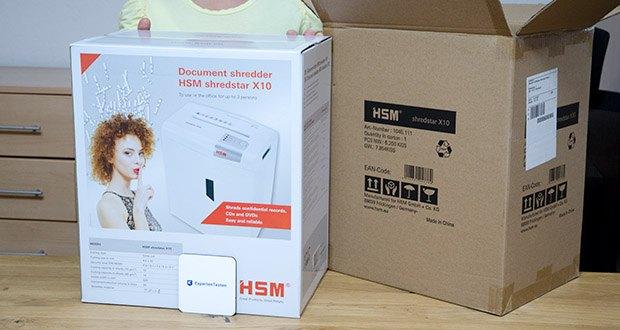 HSM shredstar X10 Aktenvernichter im Test - Gewicht: 6 Kilogramm
