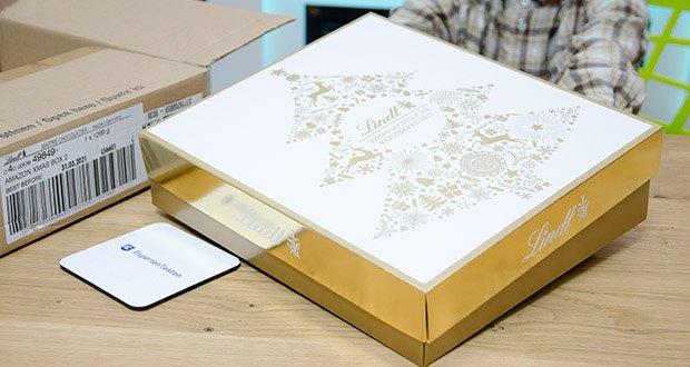 Lindt Weihnachts-Schokolade Schokoladengeschenk Gold im Test - ideal zum Verschenken oder selber genießen