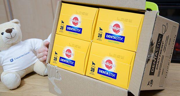 Pedigree DentaStix Daily Fresh Zahnpflegesnack für Hunde im Test - Lieferumfang: 4 x 28 Pedigree DentaStix Fresh für mittlere Hunde