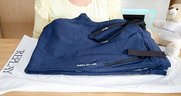 Replay Herren Sporthose im Test - Farbe: Blau (Blue 085)