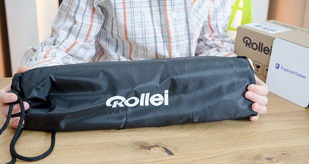 Rollei Compact Traveler No.1 Reisestativ im Test - max. Höhe 142 cm; min. Höhe 34 cm