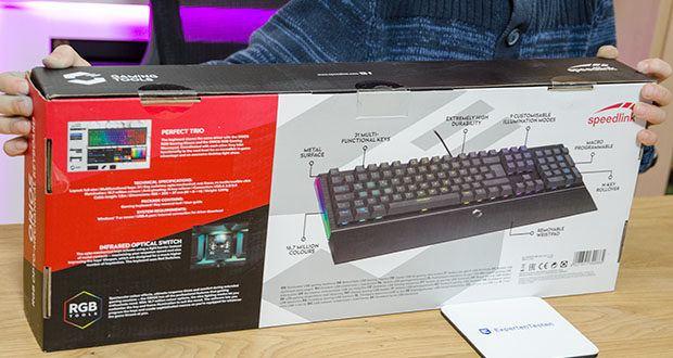 Speedlink Orios RGB Opto-Mechanische Gaming Tastatur im Test - Opto-mechanische Tasten für Langlebigkeit und schnelleres Ausführen von Befehlen