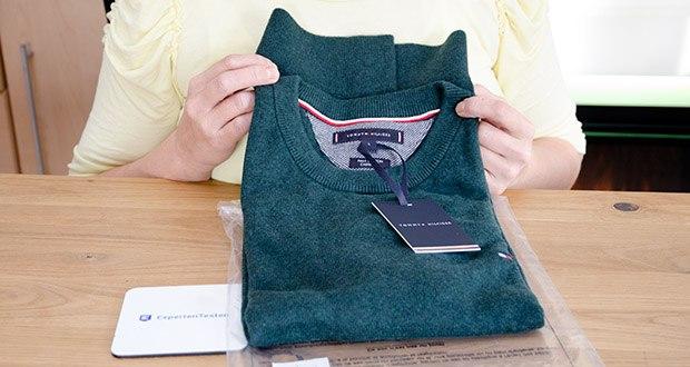 Tommy Hilfiger Herren Pima Cotton Cashmere Crew Neck Pullover im Test - Größe: L, Farbe: Hunter Heather