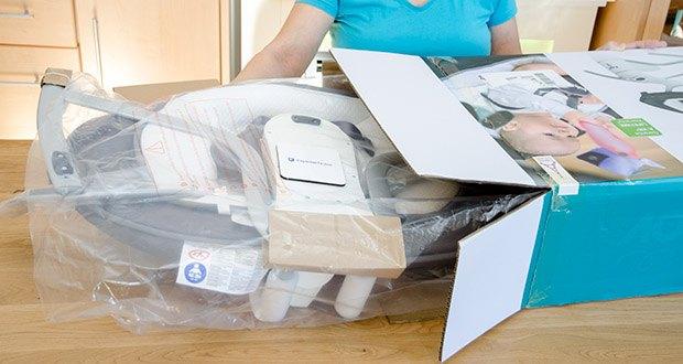 Babymoov Babyschaukel Swoon Motion Zink im Test - Maße: 65 x 72 cm; Sockelmaß: 63 x 82 cm
