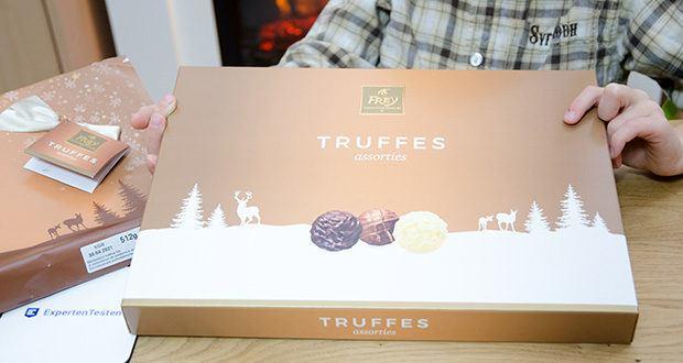 Frey Truffes assortiert Geschenkpackung im Test - Trüffel-Pralinen aus 3 verschiedenen Sorten