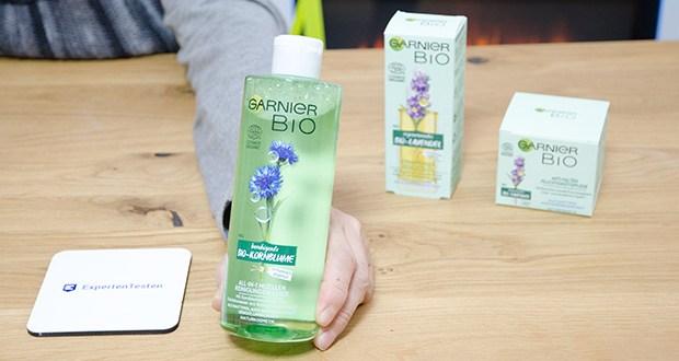 Garnier Bio Naturkosmetik Gesichtspflege Set im Test - Bio-Lavendel Gesichtsöl (140g), Anti-Falten-Creme (207g), Bio-Kornblume Mizellenwasser (437g)