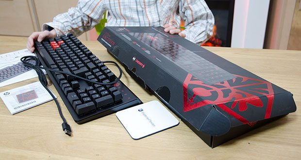 HP OMEN Encoder Gaming Tastatur im Test - bietet die nötige Agilität, um sich im Wettbewerb zu behaupten