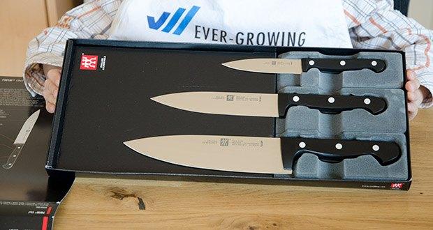 ZWILLING Twin Chef Messer-Set, 3-teilig im Test - 3-teiliges Set: Spick-/Garniermesser (10 cm), Kochmesser (20 cm), Fleischmesser (16 cm)