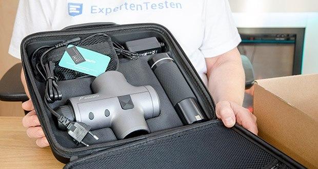 addsfit Massagepistole Max im Test - einstellbare Geschwindigkeit: 9-Gang-Stufe