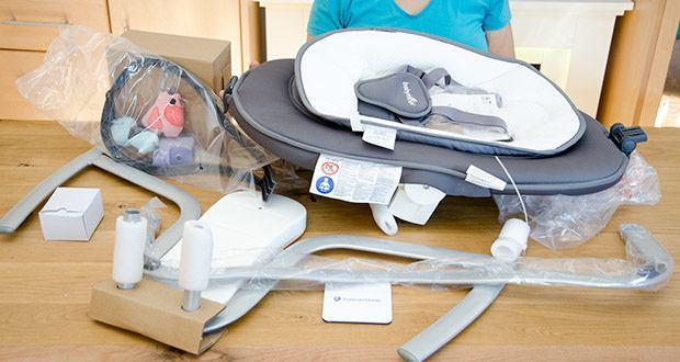 Babymoov Babyschaukel Swoon Motion Zink im Test - 360° drehbarer Sitz mit komfortablem Reduzier für Neugeborene
