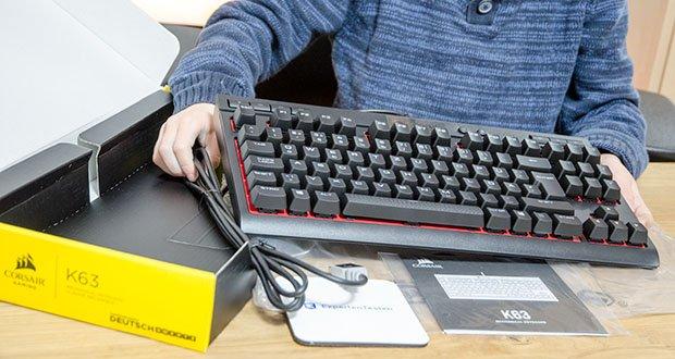 Corsair K63 Mechanische Gaming Tastatur im Test - Anti-Ghosting und Tasten-Rollover