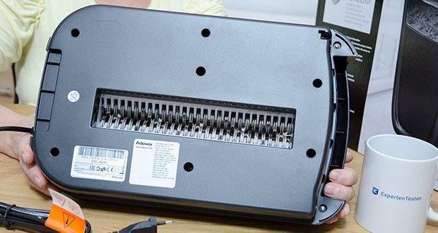 Fellowes Aktenvernichter Powershred 60Cs im Test - Schnittgröße (Sicherheitsstufe): 4 x 40 mm