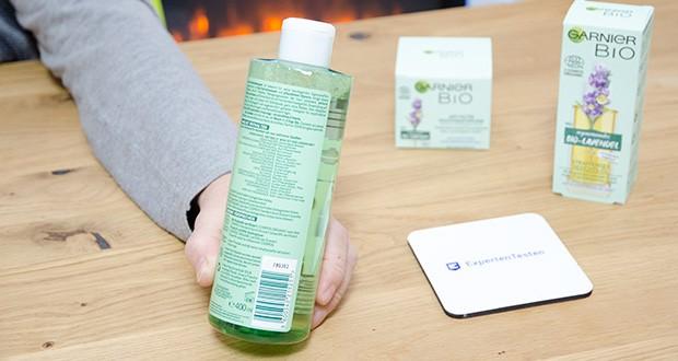 Garnier Bio Naturkosmetik Gesichtspflege Set im Test - reinigendes Mizellenwasser mit Kornblume und Gerste entfernt sanft Make-up und Unreinheiten, sodass die Haut optimal auf die Pflege vorbereitet ist