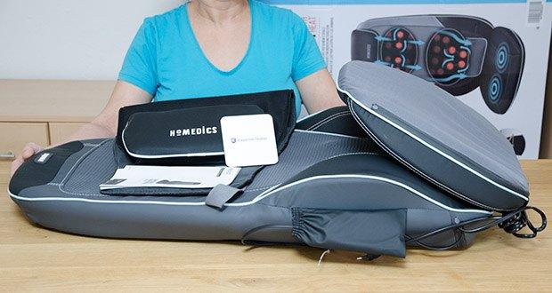 HoMedics Shiatsu MAX 2.0 Rücken- und Schultermassagegerät im Test - ideal auch als Geschenk für Frauen und Männer