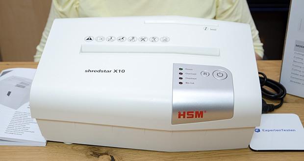 HSM shredstar X10 Aktenvernichter im Test - Eingabebreite: 220 mm