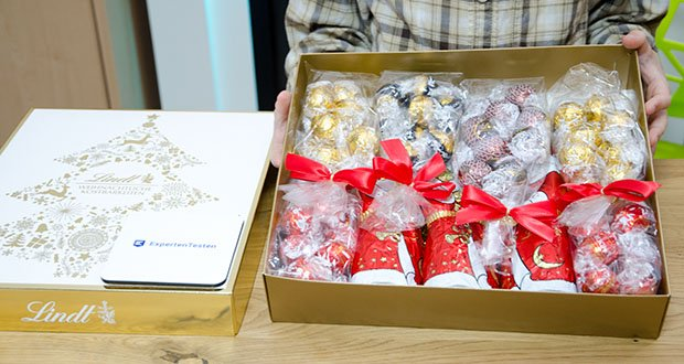Lindt Weihnachts-Schokolade Schokoladengeschenk Gold im Test - eine unvergleichliche Création der Maîtres Chocolatiers von Lindt