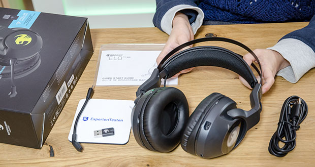Roccat Elo 7.1 Air Gaming Headset im Test - Lautsprecher-Frequenzbereich von 20 Hz – 20 kHz