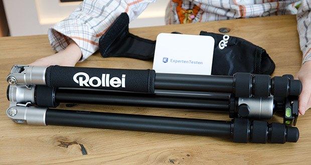 Rollei C5i Fotostativ aus Aluminium im Test - Gewicht (ohne Stativkopf / mit Stativkopf: 1306 g / 1666 g)