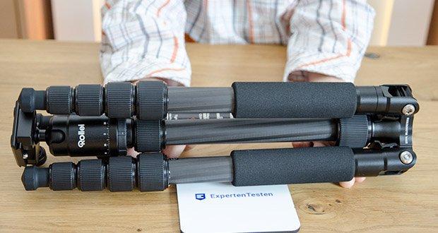 Rollei Compact Traveler No.1 Reisestativ im Test - Material: Carbon (7 Lagen), Magnesium