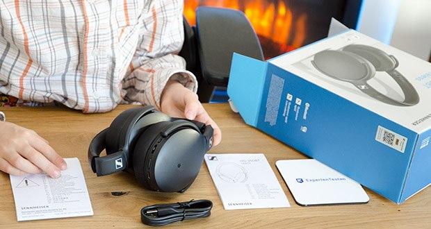 Sennheiser HD 350BT Kabelloser faltbarer Kopfhörer im Test - lässt sich kompakt zusammenfalten und vereint so Komfort und minimalistisches Design