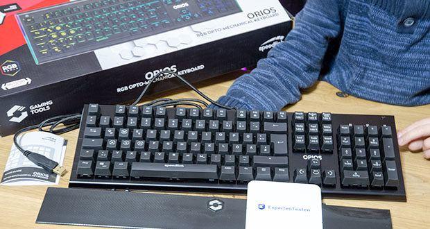 Speedlink Orios RGB Opto-Mechanische Gaming Tastatur im Test - abnehmbare Handballenauflage