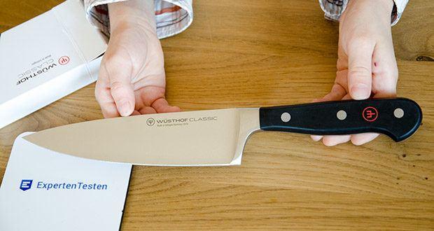 Wüsthof Kochmesser Classic, 16 cm im Test - langlebig und robust: Aus einem Stück rostfreien Wüsthof Stahl geschmiedet