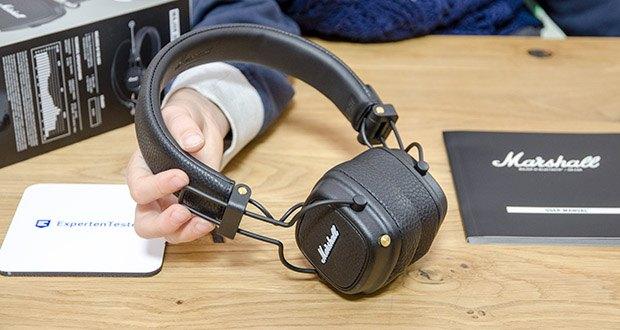 Marshall Major III Bluetooth Faltbar Kopfhörer im Test - dank seines zusammen klappbaren Designs ist er der ultimative Reisebegleiter, der tagelangem Unterwegssein standhält