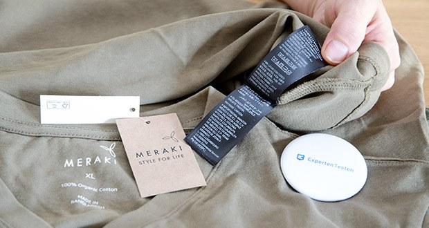 MERAKI Herren T-Shirt im Test - Material: 100% Baumwolle