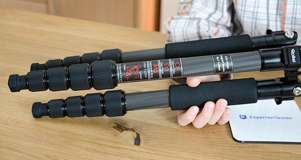 Rollei Compact Traveler No.1 Reisestativ im Test - Gewicht inkl. Kopf 980 g