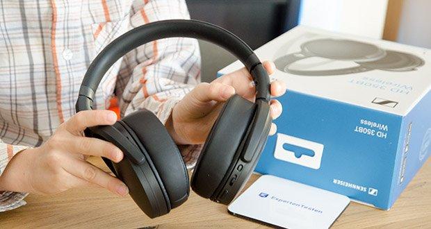 Sennheiser HD 350BT Kabelloser faltbarer Kopfhörer im Test - mit der Sennheiser Smart Control App lässt sich der Klang über den Equalizer anpassen oder der Podcast-Modus einstellen, in dem Sprachinhalte noch besser verständlich sind