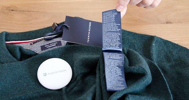 Tommy Hilfiger Herren Pima Cotton Cashmere Crew Neck Pullover im Test - Zusammensetzung: 92% Baumwolle, 8% Kaschmir