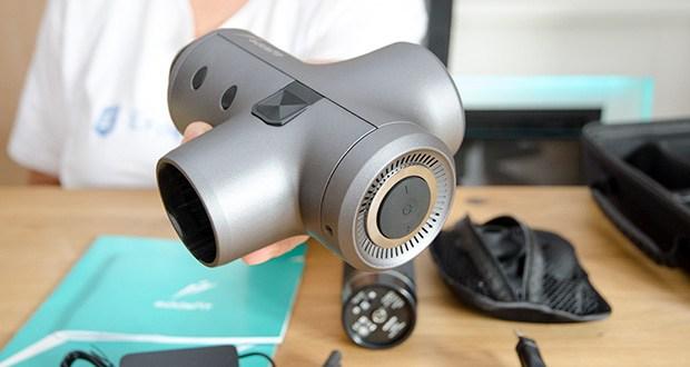addsfit Massagepistole Max im Test - Gewicht: 900g, Farbe: Gun Grey