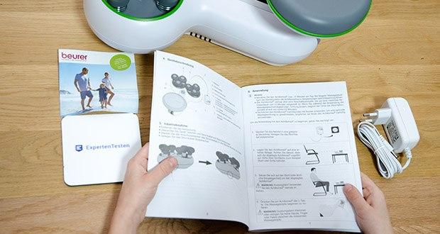 Beurer FM 200 Achillomed Achillessehnenmassagegerät im Test - verfügt über zwei Massagegeschwindigkeiten zur individuellen Anpassung an Ihre Bedürfnisse