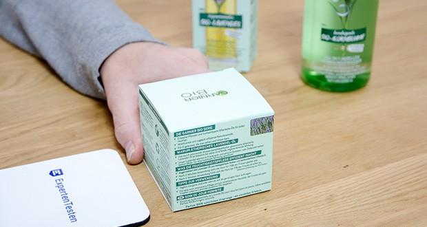 Garnier Bio Naturkosmetik Gesichtspflege Set im Test - die natürlichen Inhaltsstoffe stärken zudem die Hautschutzbarriere