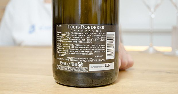 Louis Roederer Champagne Brut Premier im Test - Rebsortenkomposition: 40% Chardonnay, 40% Pinot Noir, 20 % Pinot Meunier