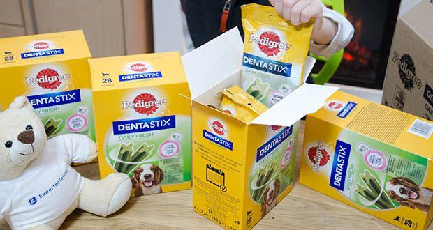 Pedigree DentaStix Daily Fresh Zahnpflegesnack für Hunde im Test - Ergänzungsfuttermittel für Hunde ab 4 Monaten