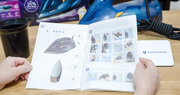 Philips Azur Advanced Dampfbügeleisen GC4937/20 im Test - dank OptimalTEMP-Technologie und dem kraftvollen Dampfstoß, der bis zu 20% tiefer in das Gewebe eindringt wird jedes Material – egal, ob Jeans oder Seide- ohne Temperatureinstellung perfekt geglättet