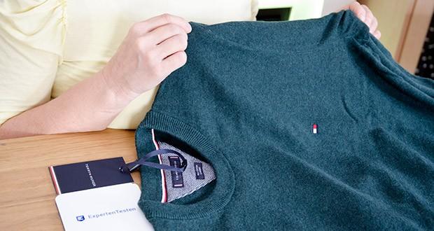 Tommy Hilfiger Herren Pima Cotton Cashmere Crew Neck Pullover im Test - Pflegehinweis: Nur Handwäsche