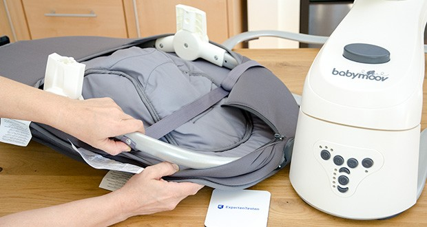 Babymoov Babyschaukel Swoon Motion Zink im Test - Pflege : Maschinenwaschbar 30°C