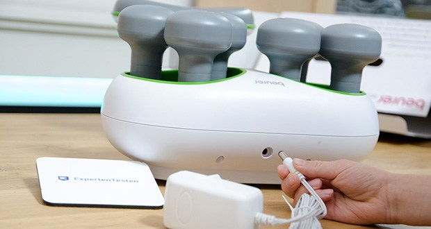 Beurer FM 200 Achillomed Achillessehnenmassagegerät im Test - beleuchtete LED-Betriebsanzeige