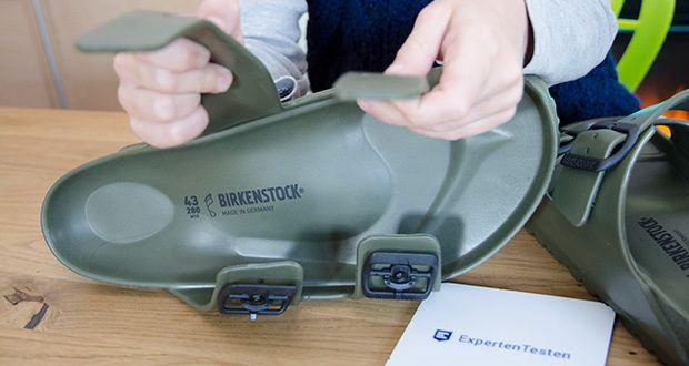 BIRKENSTOCK Herren Eva Badeschuhe im Test - lässt sich ganz nach den eigenen Bedürfnissen verstellen und schmiegt sich dem Fuß an