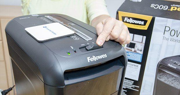 Fellowes Aktenvernichter Powershred 60Cs im Test - mit seiner langen Betriebsdauer von 6 Minuten am Stück ist der 60Cs ein leistungsstarker Schredder