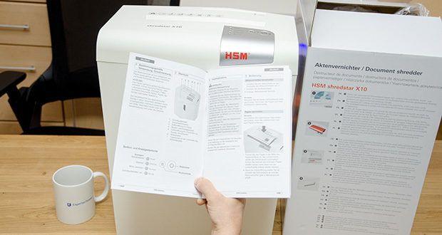 HSM shredstar X10 Aktenvernichter im Test - dieser komfortable Heimbüro-Aktenvernichter mit Partikelschnitt und separatem CD-Schneidwerk schreddert sicher Akten und CDs/DVDs
