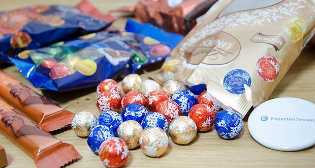 Lindt Weihnachtliche Kostbarkeiten Schokoladengeschenk im Test - die zarteste und cremigste Alpenvollmilchschokolade wird von Lindts Maître Chocolatiers mit viel Liebe aus feinstem Cacao kreiert, um jedes Weihnachtsfest noch mehr zu versüßen